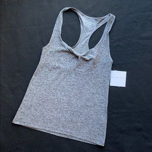 NWT Beyond Yoga So Twisted Tank in Heather Gray